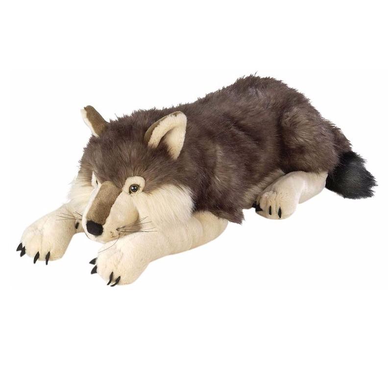 Pluche knuffeldier wolf 76 cm