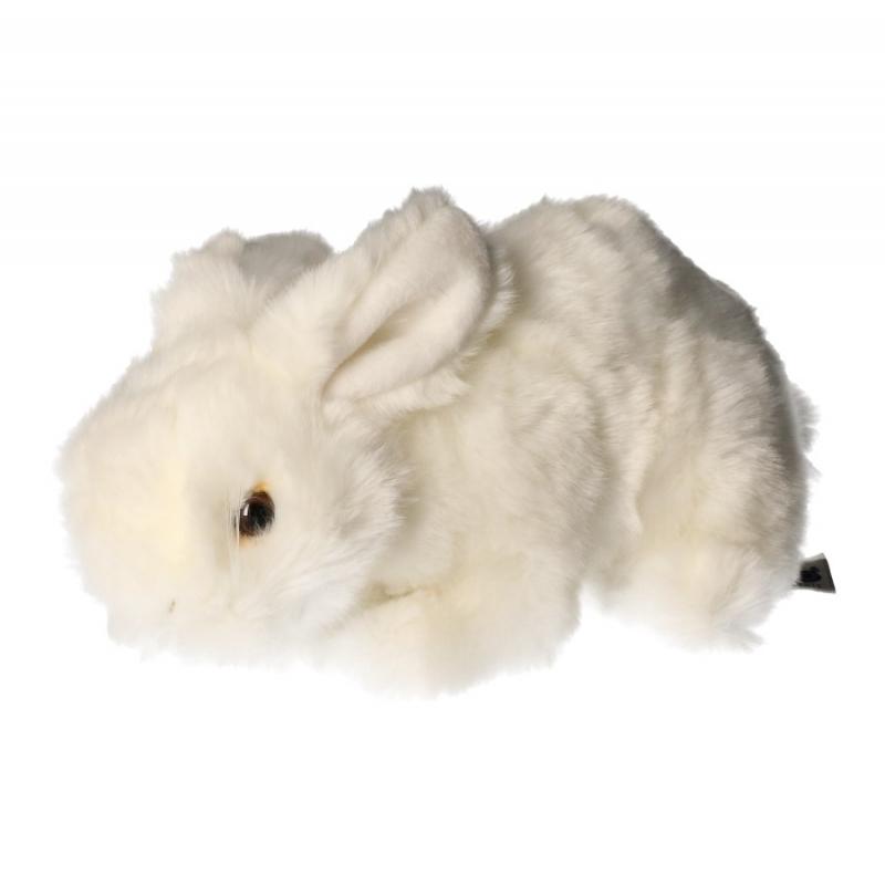 Pluche konijn knuffel wit 20 cm