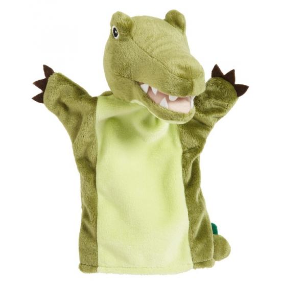 CartoonPartner Pluche krokodil handpop groen 22 cm Handpoppen