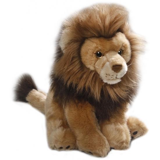 Dieren knuffels Pluche leeuw knuffel 30 cm