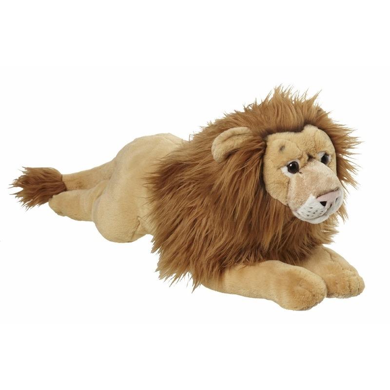 CartoonPartner Pluche liggende leeuw knuffel 70cm Dieren knuffels