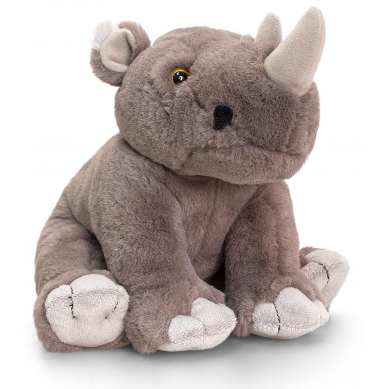 Keel Toys Pluche neushoorn knuffeltje 25 cm Dieren knuffels