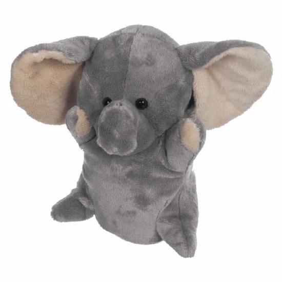 Handpoppen CartoonPartner Pluche olifanten handpoppen 24 cm