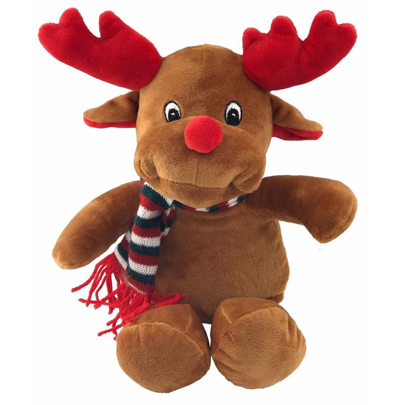 Kerst feestartikelen Pluche rendier knuffel 26 cm