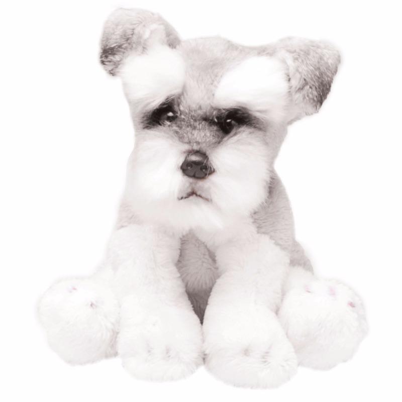 Dieren knuffels Geen Pluche Schnauzer wit grijs knuffel hond 13 cm