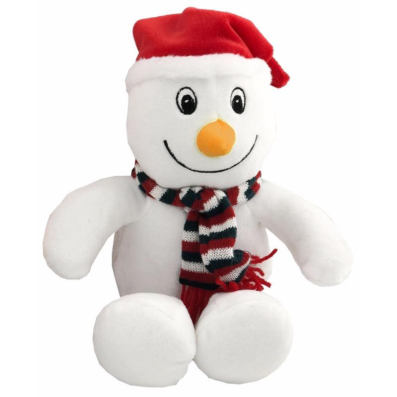 Pluche sneeuwpop knuffel 26 cm Geen Schitterend
