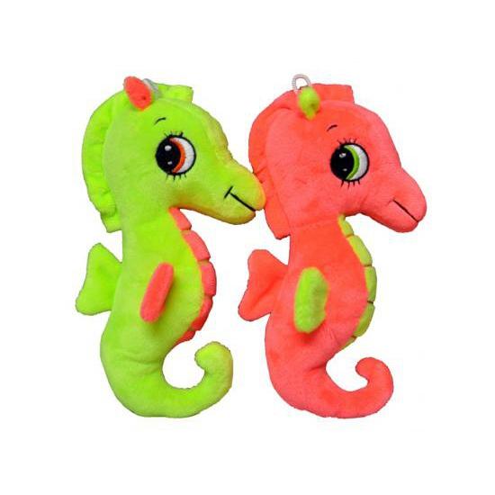 Dieren knuffels CartoonPartner Pluche zeepaardje geel 20 cm