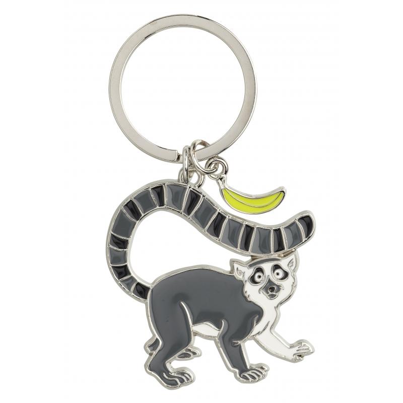 Ringstaartmaki sleutel hangertje 5 cm CartoonPartner Kado