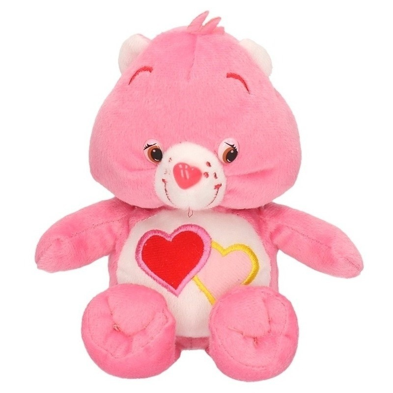 Roze Care Bears knuffel 18 cm
