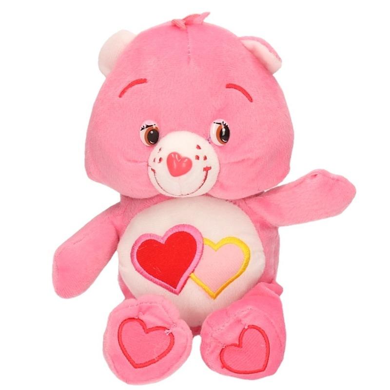 Roze Care Bears knuffel 24 cm