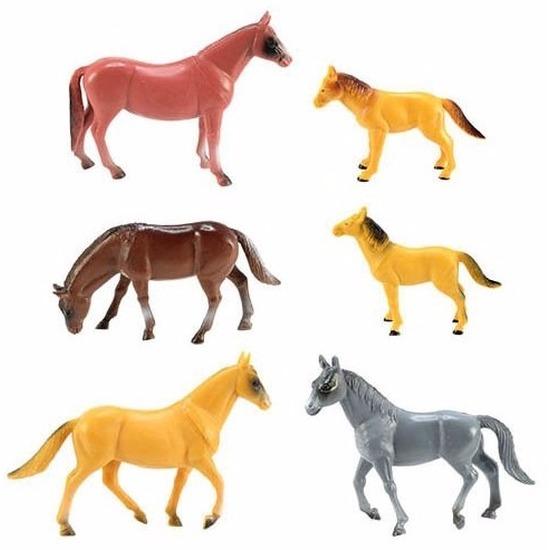 Speelfiguren sets Geen Rubber speelgoed paarden set