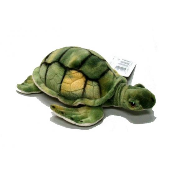 Schildpadden knuffels groen 18 cm CartoonPartner Dieren knuffels