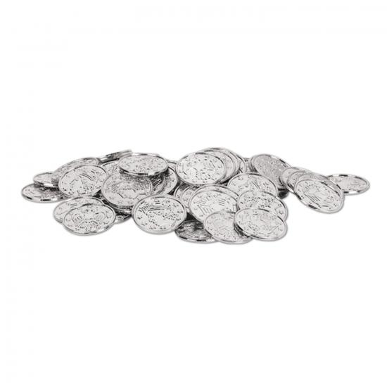 Speelgoed geld zilveren munten