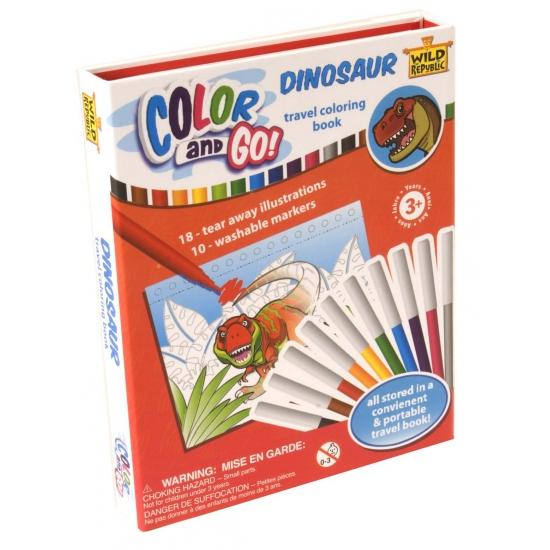 Speelgoed kleurboek dinosauriers Wild Republic Educatief speelgoed