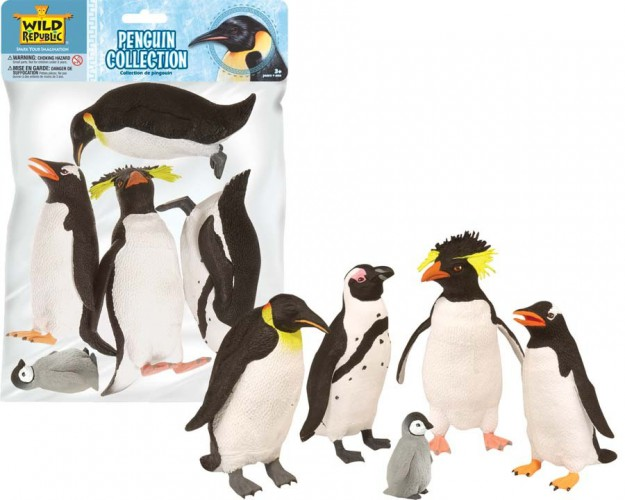 Wild Republic Speelgoed set met diverse pinguins Speelgoed diversen