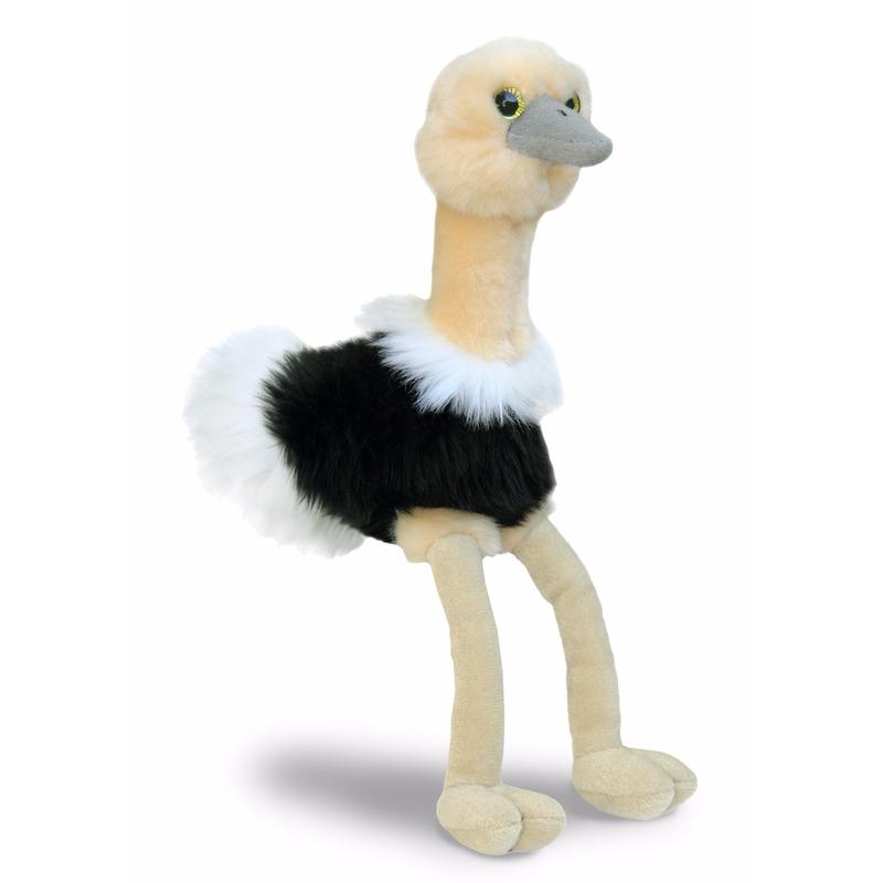 Struisvogel knuffeltje 20 cm Aurora Goedkoop