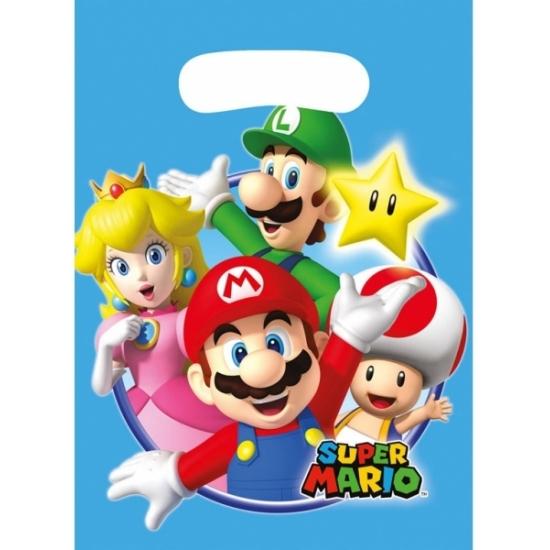 Super Mario uitdeelzakjes 6 stuks