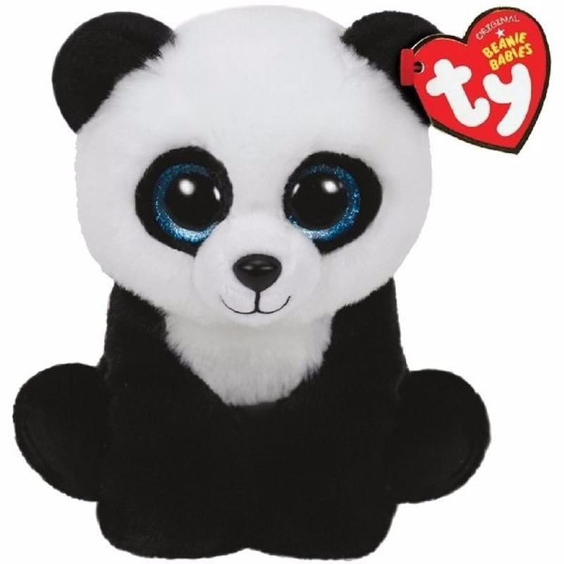Ty Beanie knuffeltje panda Ming 15 cm Ty Beanie Dieren knuffels