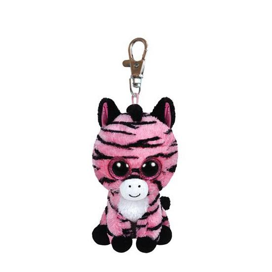 Pluche sleutelhangers Ty Beanie Zoey sleutelclip zebra 12 cm