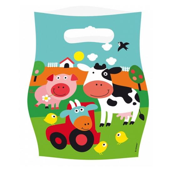 Uitdeelzakjes boerderij dieren
