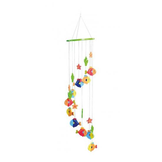 Vissen hangdecoratie voor kinderkamer 65 cm