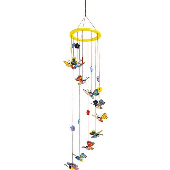 Vlinder hangdecoratie voor kinderkamer 80 cm