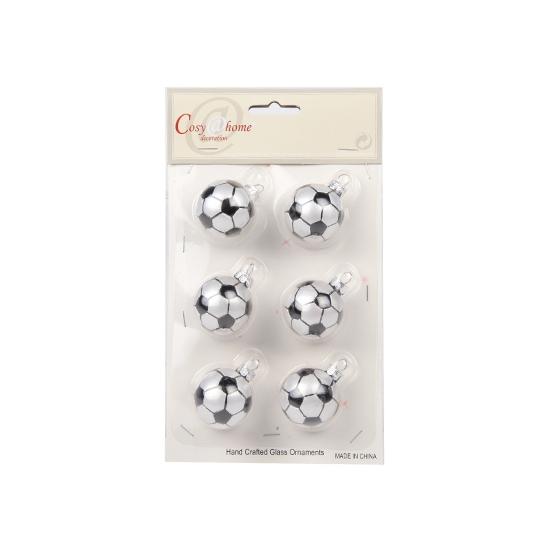 Voetbalfan cadeau kerstballen 3cm