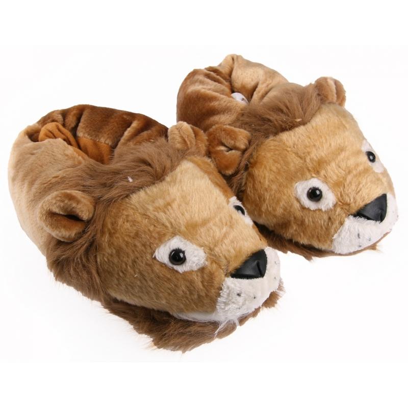 Sloffen en Pantoffels CartoonPartner Volwassenen dieren sloffen leeuw