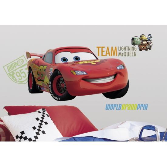 Disney Wansticker set Cars 7 stuks Feestartikelen diversen