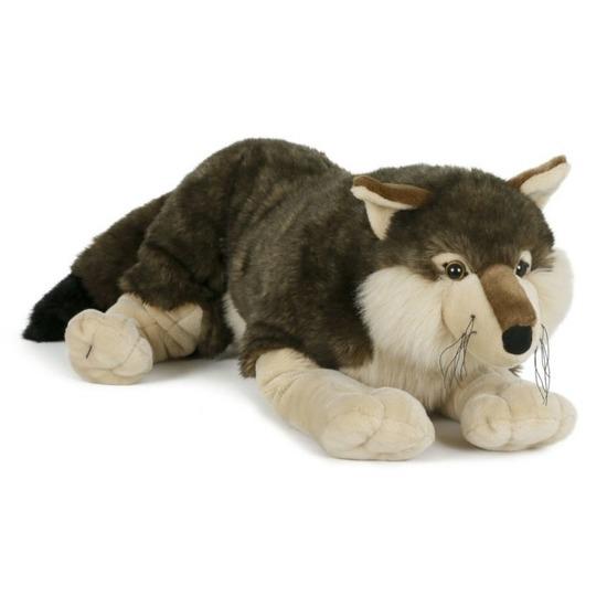 Wildedieren knuffels wolf 71 cm
