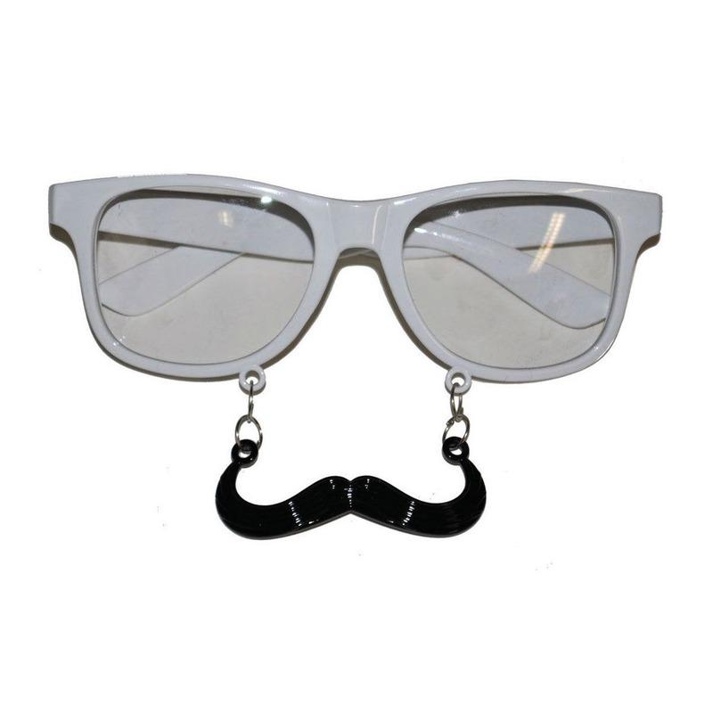 5ea30b58bf8173 Fun brillen met snor wit