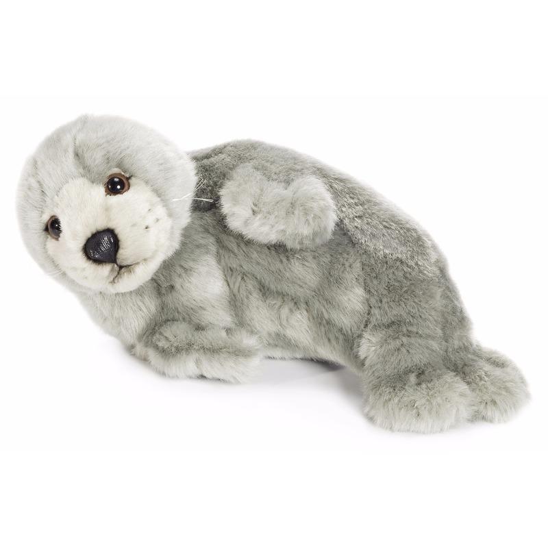 Dieren knuffels WNF WNF knuffels grijze zeehond 24 cm