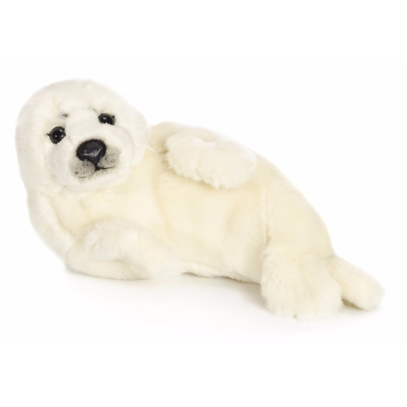 WNF knuffels witte zeehond 24 cm WNF Dieren knuffels