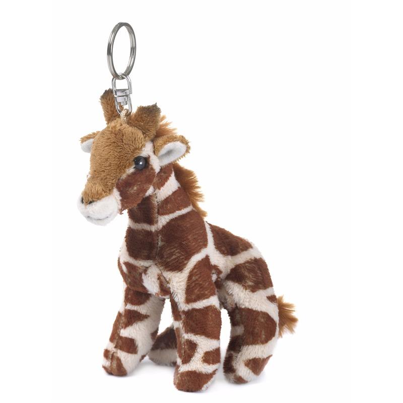 WNF pluche giraffen sleutelhangertje WNF Pluche sleutelhangers