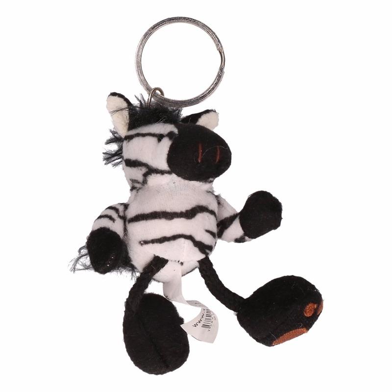 Pluche sleutelhangers CartoonPartner Zebra sleutelhangers 10 cm