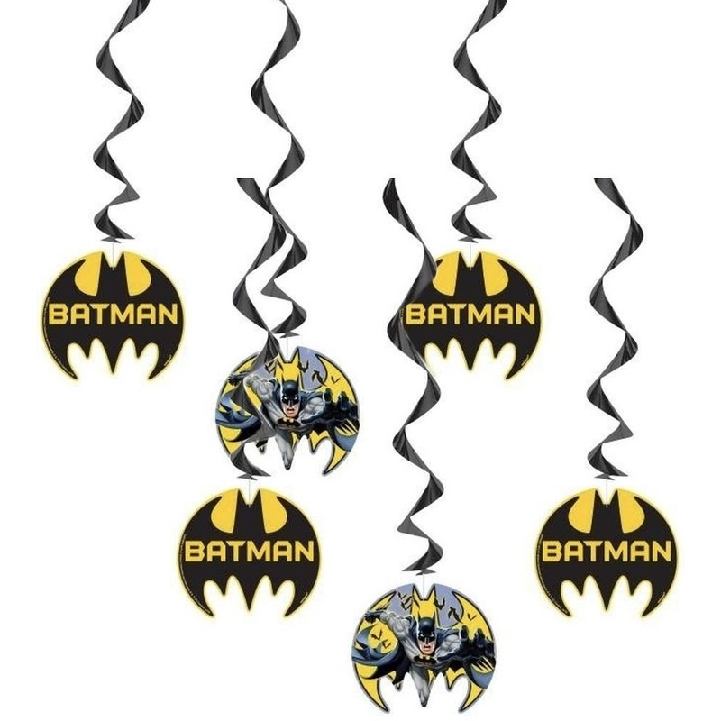 6x Batman themafeest hangdecoraties