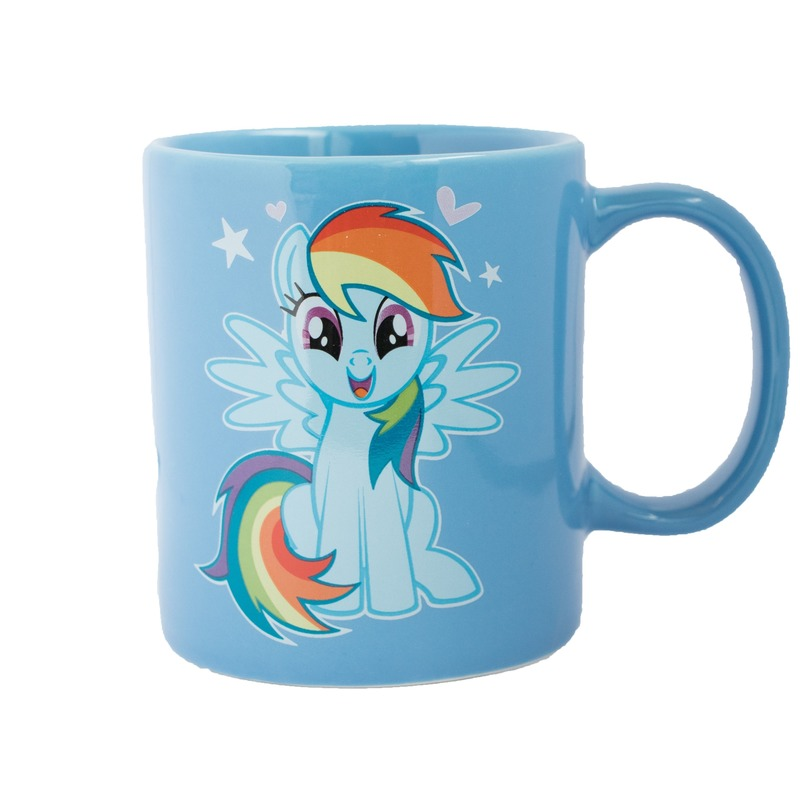 Blauwe My Little Pony mok/drinkbeker Rainbow Dash 320 ml
