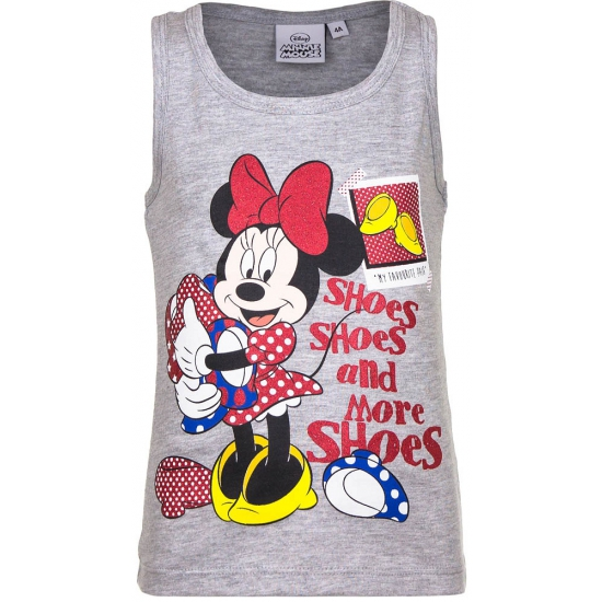 Mouwloos Minnie Mouse t-shirt grijs