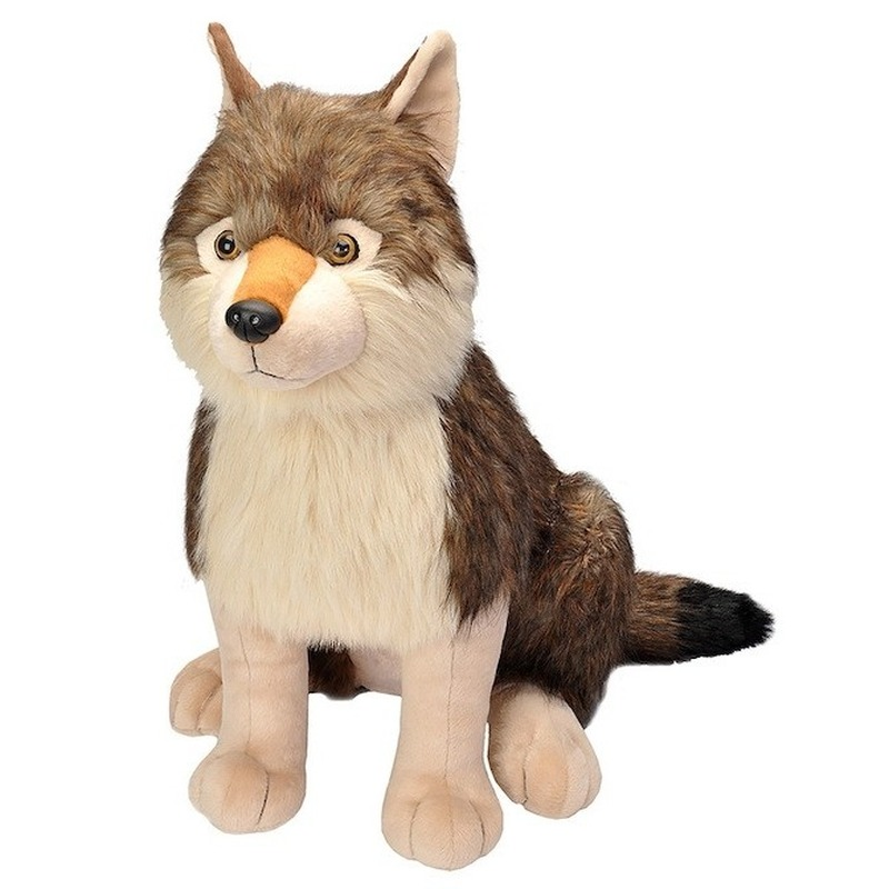 Pluche grote wolf knuffel 70 cm
