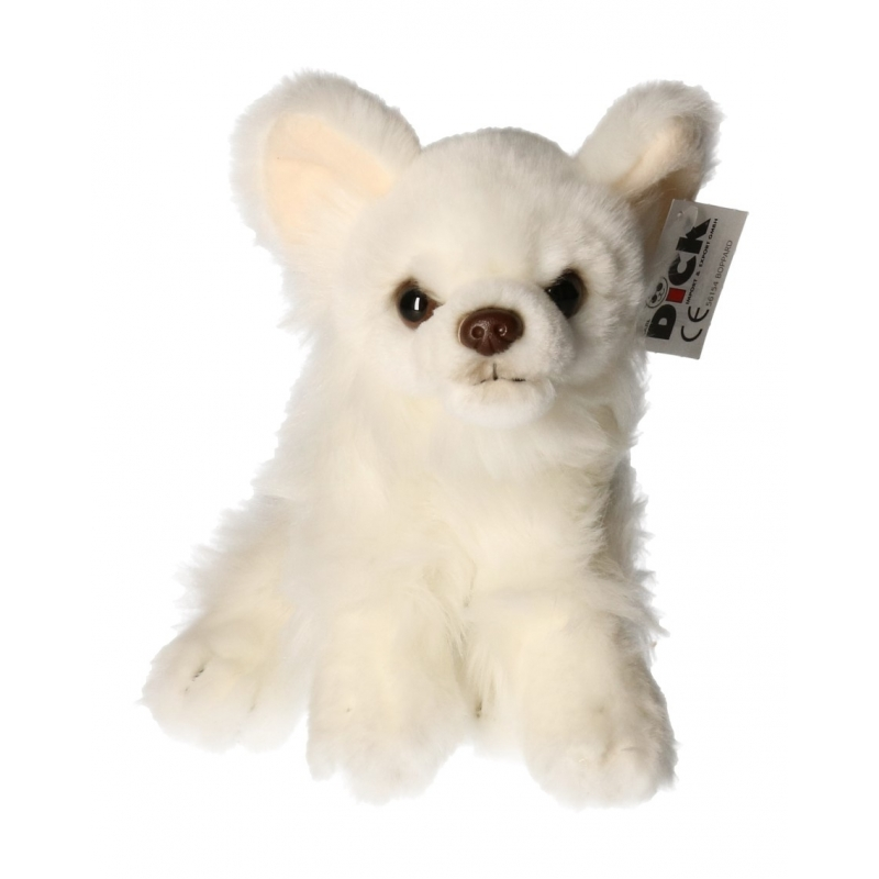 Pluche witte Chihuahua hond knuffel 17 cm
